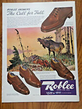 1942 Roblee Shoes Ad The Call for Fall He-Man  Canadian Moose Theme