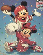 Vintage Disney Mickey Minnie Jigsaw Puzzle Football Cheerleader 100 pcs NEW