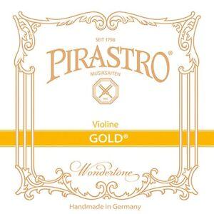 Pirastro GOLD E Saite String für 4/4 Violine Geige, Schlinge, in drei Stärken