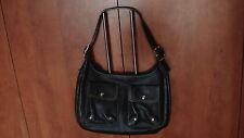 Grand sac en cuir noir Longchamp cabas bandoulière ou main + trousse Longchamp.