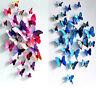 12 set 3D Schmetterlinge Wandtattoo Wanddeko Wandaufkleber Weihnachtsdekoration