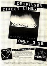 "7/2/81Pgn29 Advert: Dedringer Direct Line The Album Only At Hmv 15x11"""