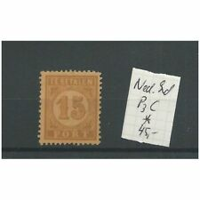 Ned. Indie  P3c  port 15ct  MH/ongebr   CV 45 €