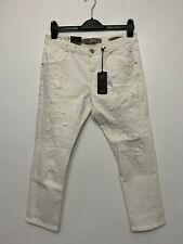 Guess Women's Tapered Relax Cropped White Jeans Size 29