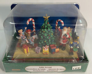 Lemax –Christmas Village Table Accent 13911 Santa  Tree Candy Canes Toys Rare!