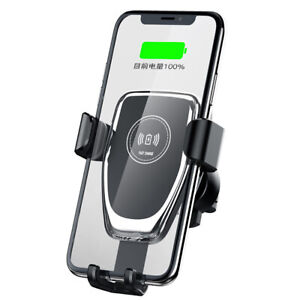 10W Qi Wireless Car Charger Dock Holder For i Phone 11 8 XS Samsung S10 Note10 9