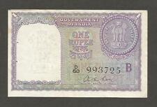 """India 1 Rupee N.D. (1957); EF; P-75c; L-B156c; 1 Rupee coin; Letter """"B""""; Sig Roy"""