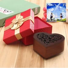Vintage Carving Heart Wood Music Box  : RADWIMPS ' YOUR NAME' THEME SONG