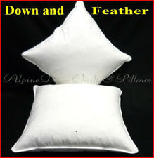 SCATTER CUSHIONS INSERTS X 2 DUCK DOWN & FEATHER - 65 x 65cm  AUSTRALIAN MADE