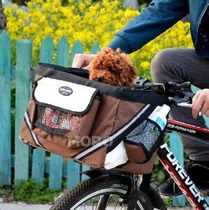 Dog Cat Bicycle Basket Carrier Bike Pet Car Seat Sleep Bed Easy Travel Journey