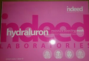 NEW MASK HYDRALURON Indeed Labs 4x20ml Moisture Boosting Mask Hyaluronic Acid
