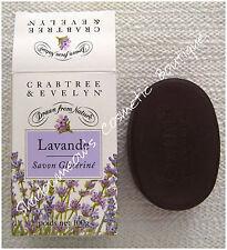 Crabtree & Evelyn Lavender Lavander Swiss Glycerine Soap 3.5 oz Rare NIB 1 Bar