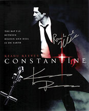 KEANU REEVES (CONSTANTINE) CAST SIGNED PHOTO PRINT 01