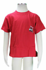 JACADI Boy's Cane Bright Red Crew Neck T-Shirt Size 2 Years NWT $26