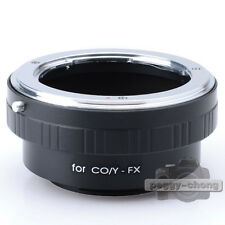 Contax Yashica CY Mount Lens to Fujifilm FX X Mount X-Pro1 Camera Adapter Ring