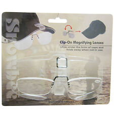 Snowbee Fishing Cap-Peak Clip-On Magnifier Glasses +2.5 Magnification