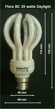 3x Powerpac Energy Saving Light globes CFL 25w very bright 6500k Bayonet B22 BC