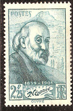 STAMP / TIMBRE DE FRANCE NEUF LUXE N° 421 ** PEINTRE PAUL CEZANNE
