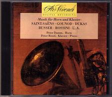 Peter DAMM, Peter RÖSEL: HORN & PIANO Francaix Divertimento Poot Bozza Gounod CD