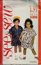 Vintage Niños separa Coser \ Modistería patrones 5306