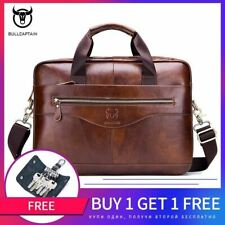 Cowhide Men's Business Leather Business Briefcase