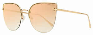 Tom Ford Butterfly Sunglasses TF652 Ingrid-02 33Z Gold 60mm FT0652