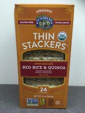 Lundberg 6 pk of 24 Red Rice & Quinoa Thin Stackers - DAMAGED - Exp 1/11/21