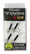 Gamakatsu Twin Hook Rb-M Silver Limited # 1 0 Qty. 4 Twin hook New from Japan
