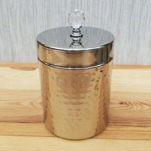 Stainless Steel & Crystal Handle Storage Jar Kitchen Bling Coffee Pot Tea Caddy