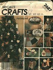 McCall's Crafts 2687 Folk Christmas Tree Skirt Stocking Uncut Sewing Pattern