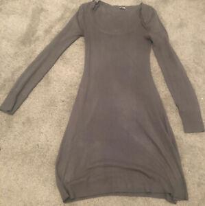 New Look Ladies Dark Grey Knit  Dress Size 8 100% Acrylic