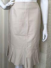 Margaret Godfrey SKIRT LEATHER Beige Genuine Leather Skirt Size 4