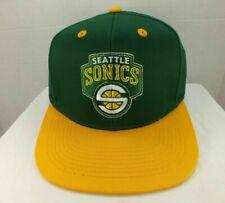 Seattle Supersonics NBA Snapback Hat Cap 2 Tone Green/Yellow One Size Adidas NEW