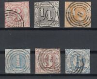 X2294/ GERMANY – THURN & TAXIS – 1859 / 1864 USED CLASSIC LOT – CV 250 $
