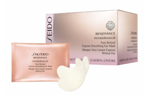 Shiseido Benefiance WrinkleResist24 Pure Retinol Express Smoothing Eye Mask 12ct