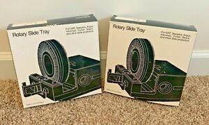QTY 2 TRAYS - PHOTOCO Rotary Slide Tray GAF SAWYERS ARGUS HANIMEX VIVITAR SEARS