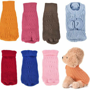 Tinny Puppy Dog Sweater Knitted Jumper Winter Clothes for Yorkie Teacup XXXXS