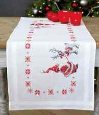 Natale elfi & renna Runner Da Tavolo kit con stampa ricamo kit punto croce