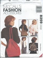 M 8259 sewing pattern 3 fun BACKPACKS Sling Slouch Tote Shopping BAGS sew TRENDY