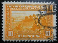 U.S. Stamp: Scott#400, 10c, Orange Yellow, The Panama-Pacific Expo., of 1913-15