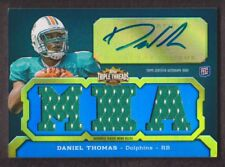 2011 Topps Triple Threads Football #104C Daniel Thomas RC Jersey Auto 03/99