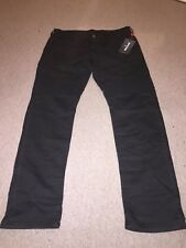 Brand New Mens True Religion Jeans Rocco Relaxed Skinny W43 x L34 Black