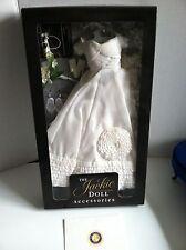 "Franklin Mint Jackie 15"" Vinyl Doll Wedding Ensemble w/Bouquet,Jewelry NRFB+Card"