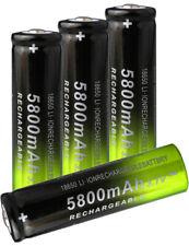 4PCS 3.7V 5800mAh Rechargeable Batteries for Camera Toys Flashlights US