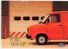 Ford Transit Mk2 1981-83 UK Market Sales Brochure Van Bus Kombi Chassis Cab