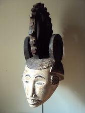 "Stunning 23"" Igbo Ibo Headdress Huge Mask African Carving!"