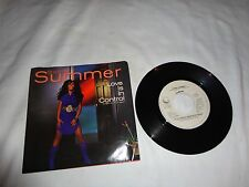 Donna Summer 80s SOUL 45 & PS (Geffen 29982) Love is in Control/Sometimes  MN PS