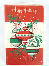 Vintage Happy Holiday Christmas Cards 10 card pack Mid Century N.O.S.