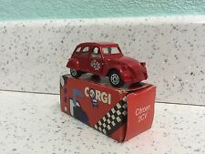 Corgi Juniors RED CITROEN 2CV Car Made in Great Britain Boxed Toy.