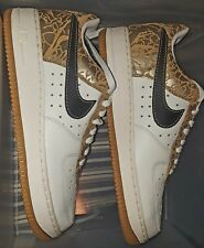 Nike Air Force 1  XXV Gold, Black, White Shoes 315115-101 Size 11.5 US NEW